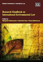 Research Handbook on International Environmental Law PDF