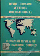 Download Revue Roumaine D   tudes Internationales Book