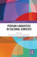 Persian Linguistics in Cultural Contexts PDF