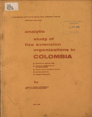 An Analytical Study of Five Extension Services in Colombia