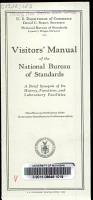 Visitors  Manual of the National Bureau of Standards PDF