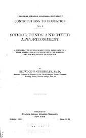 School Funds and Their Apportionment