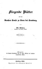 Fliegende Blätter aus dem Rauhen Hause zu Horn bei Hamburg: Organ des Central-Ausschusses für die Innere Mission der Deutschen Evangelischen Kirche, Band 11