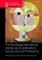 The Routledge International Handbook of Spirituality in Society and the Professions PDF