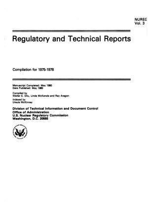Regulatory and Technical Reports PDF