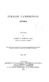 Giraldi Cambrensis Opera: Issue 7