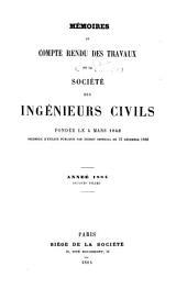 Mémoires et compte-rendu des travaux: Volume2