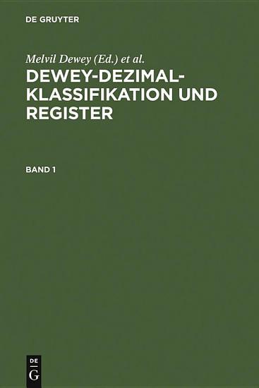 Dewey Dezimalklassifikation und Register PDF