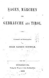 Sagen, Märchen und Gebräuche aus Tirol