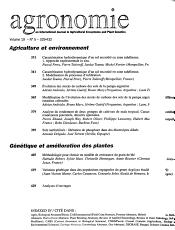 Agronomie PDF