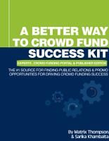 A Better Way To Crowd Fund Success Kit PDF