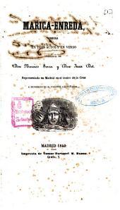 Marica-enreda: comedia en tres actos y en verso