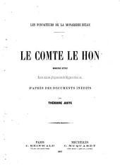 Le comte Le Hon, ministre d'Etat: ancien ministre plénipotentiaire de Belgique à Paris, etc. D'après des documents inédits