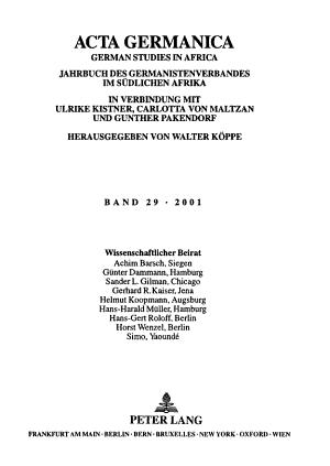 Acta Germanica PDF