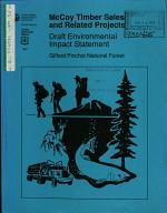 Gifford Pinchot National Forest (N.F.), McCoy Timber Sales and Related Projects