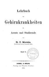 Lehrbuch der Gehirnkrankheiten für Aerzte und Studirende: Band 2