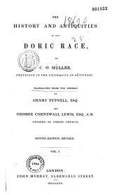The History and Antiquities of the Doric Race