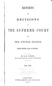 Reports of Cases Argued and Adjudged in the Supreme Court of the United States: Volume 16