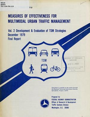 Measures of Effectiveness for Multimodal Urban Traffic Management PDF