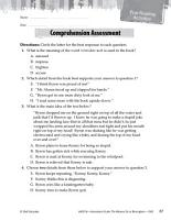 The Watsons Go to Birmingham  1963 Comprehension Assessment PDF