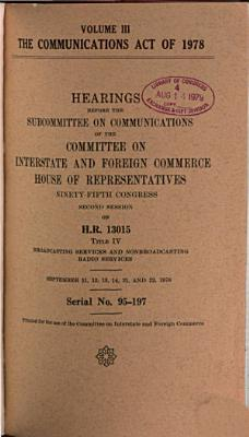 The Communications Act of 1978
