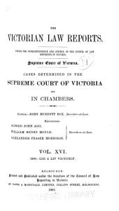 The Victorian Law Reports: Volume 16