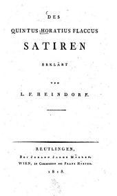 Des Quintus Horatius Flaccus Satiren