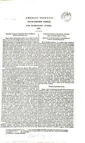 Americi Vespucii navigationis tertiæ duæ enarrationes diverse, 1501: Volume 37