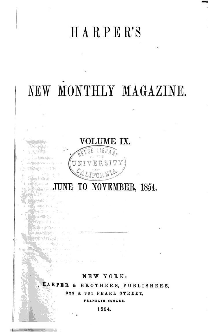Harper's New Monthly Magazine