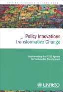 Policy Innovations for Transformative Change PDF