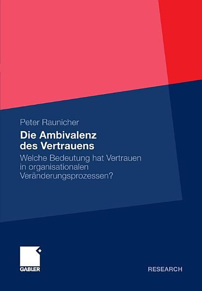 Die Ambivalenz des Vertrauens PDF