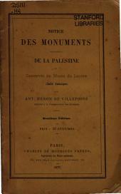 Notice des monuments provenant de la Palestine et conservés au Musée du Louvre (Salle Judaique)