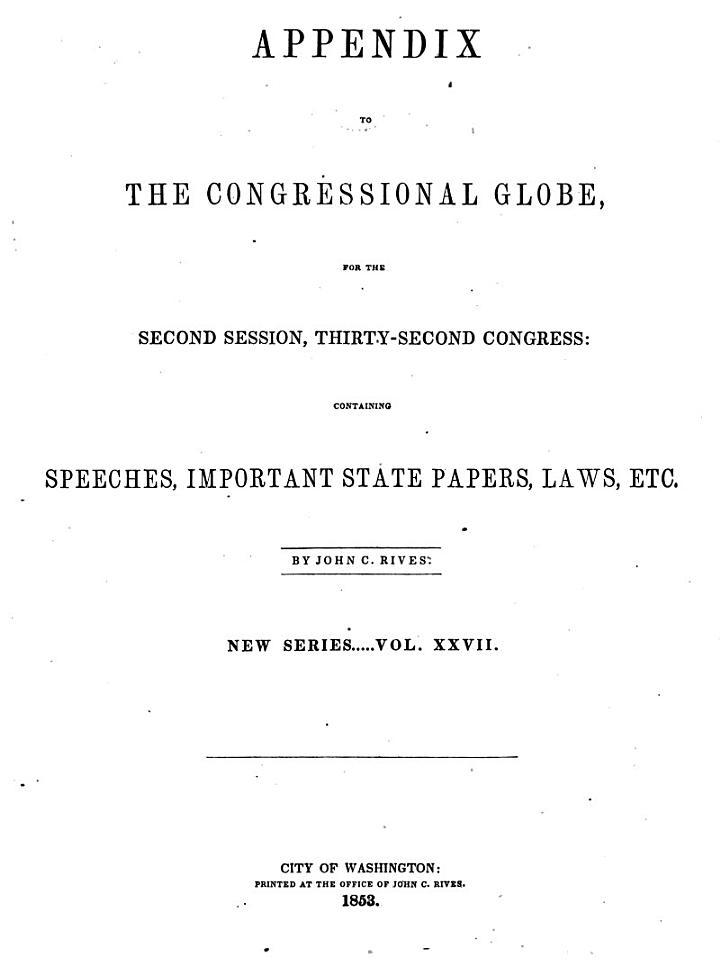 The Congressional Globe ...