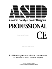 ASID  American Society of Interior Designers Professional Practice Manual Book