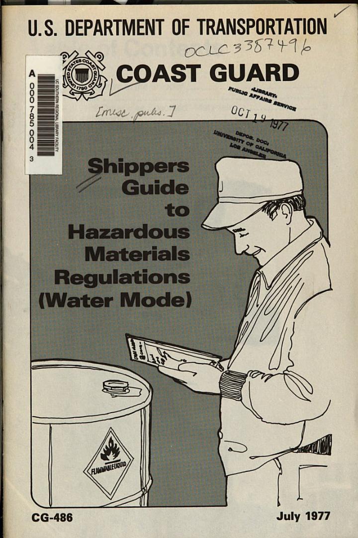 Shippers guide to hazardous materials regulations (water mode).