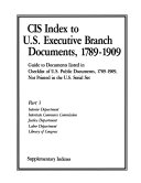 Cis Index To U S Executive Branch Documents 1789 1909 Interior Justice And Labor Depts Interstate Commerce Commission Library Of Congress Book PDF
