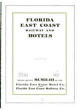 Florida East Coast railway and hotels