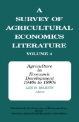 A Survey of Agricultural Economics Literature PDF