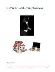 Modern Personal Security Solutions Book PDF