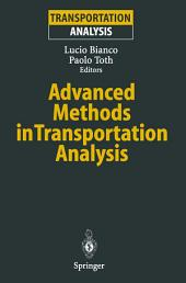 Advanced Methods in Transportation Analysis