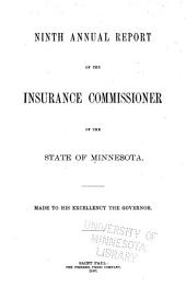 Annual Report of the Insurance Commissioner of the State of Minnesota: Volume 9, Part 1880