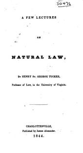 A Few Lectures on Natural Law