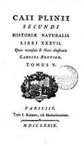 Caii Plinii Secundi Historiæ naturalis libri XXXVII.