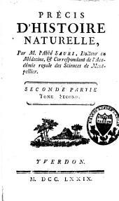 Précis d'histoire naturelle: Volume2,Partie2