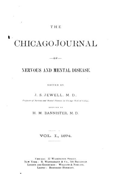 Download The Chicago Journal of Nervous and Mental Disease Book