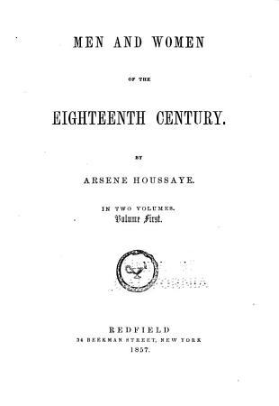 Men and Women of the Eighteenth Century PDF