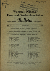 Woman's National Farm and Garden Association Bulletin: Volume 6, Issue 9