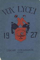 Vox Lycei Fall 1926-1927