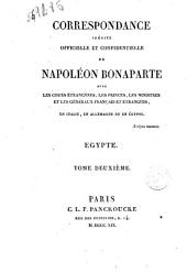 Correspondance Inedite Officielle Et Confidentielle De Napoleon Bonaparte