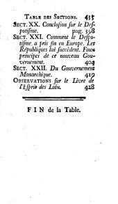 Recherches sur l'origine du despotisme oriental: Ouvrage posthume de Mr. B.I.D.P.E.C. ...